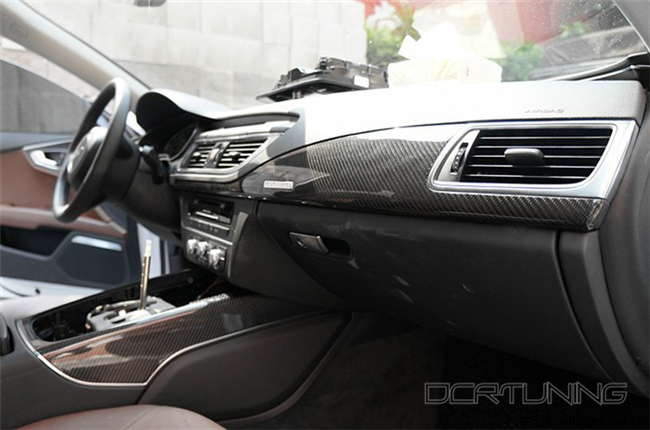 Audi A6 Carbon Interior Installed  (3)