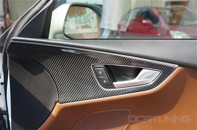 Audi A6 Carbon Interior Installed  (4)