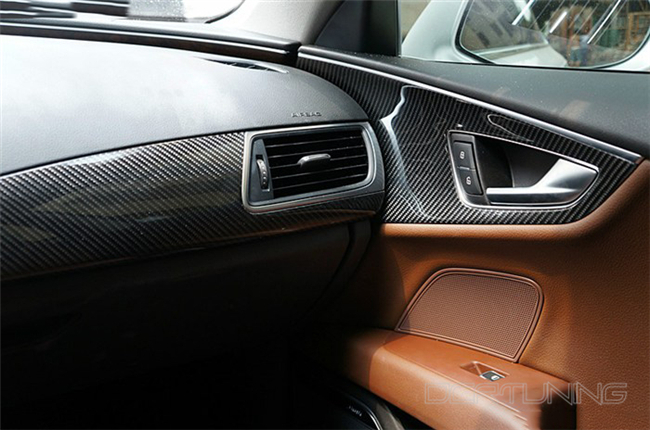 Audi A6 Carbon Interior Installed  (6)