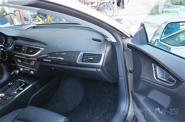 Audi A6 Carbon Interior Installed  (7)