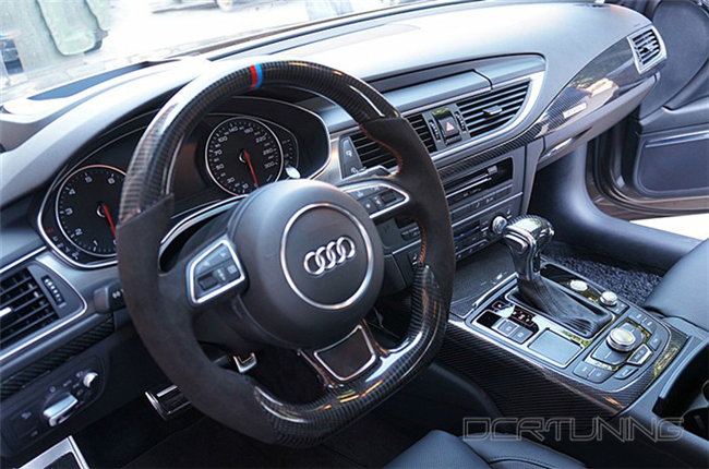 Audi A6 Carbon Interior Installed  (9)