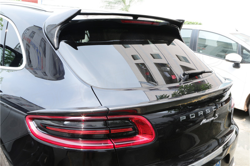 Porsche Macan Carbon Fiber Rear Middle Spoiler 3pcs Set