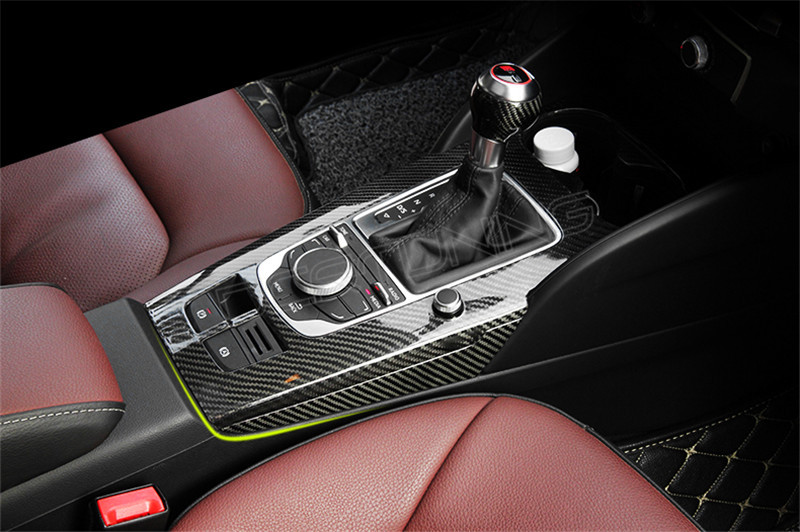 Audi A3 8v S3 Carbon Fiber Gear Surround Cover Dry Carbon 1 Dcr Tuning Auto Bodykit
